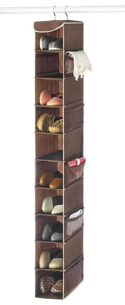 Beau Zober 10 Shelf Hanging Shoe Organizer Shoe Holder Closet 10 Mesh Pockets