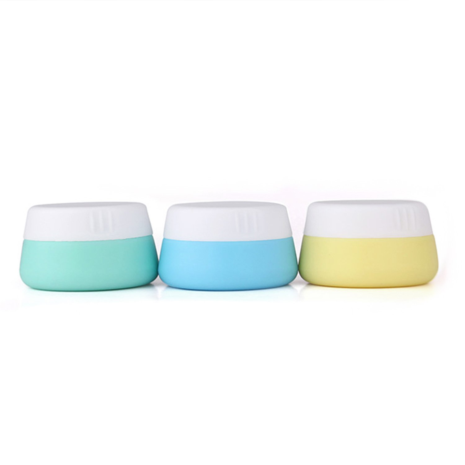 Mudder Silicone Cosmetic Containers Cream Jar with Sealed Lids, 3 Pieces (20 ml)