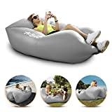 Inflatable Air Sofa Chair - Portable Lounger Couch & Air Hammock, Pool Float Lounge Chair - Ideal for Traveling, Camping or At Beaches – Waterproof & Lightweight – Includes Carry Bag (Gray)