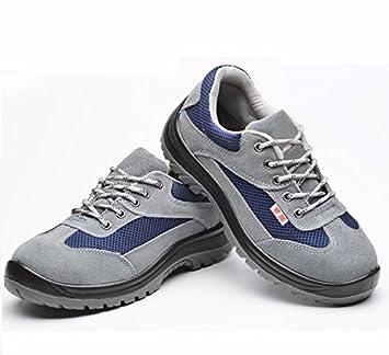 Hombres Deportes al aire libre transpirables de piel y calzado de seguridad portatil,Treinta y