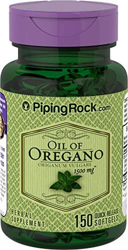 Piping Rock Oil of Oregano Oreganum Vulgare 1500 mg 150 Quick Release Softgels Herbal Supplement