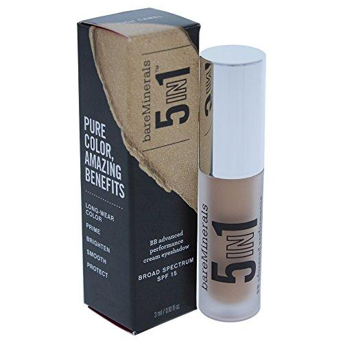 Long Wearing Cream Shadow - bareMinerals 5-in-1 BB Advanced Performance Cream Eyeshadow, Rich Camel, 0.1 Fluid Ounce