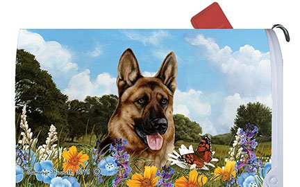 Best of Breed German Shepherd Dog Breed Mail Box Cover