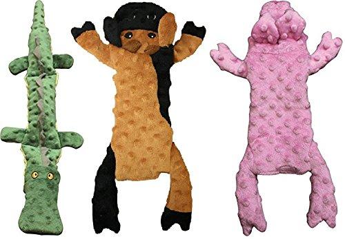 (Ethical Pets Skinneeez Extreme Stuffing Free Crocodile, Cow, and Pig Dog Toys (Bundle))