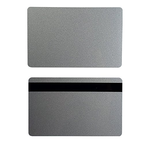 Pack of 500 Premium Graphic Quality Silver PVC w/HiCo 2 Track Cards CR80 30 Mil Standard Credit Card Size by My ID City