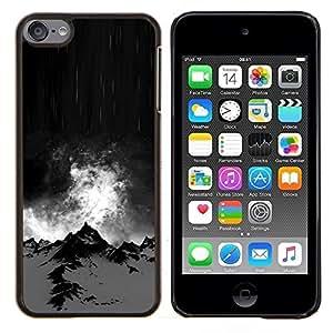 Planetar® ( Alaska Noche Negro Climb Invierno ) Apple iPod Touch 6 6th Touch6 Fundas Cover Cubre Hard Case Cover