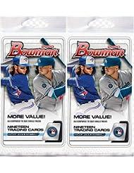 2 PACKS: 2020 Bowman MLB Baseball FAT PACK (19 cards/pk)