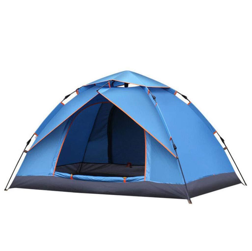FEIYUESS Outdoor Camping Zelt Doppelte Wasserdichte Zelt Automatische Schnellöffnungszelt Mit Aufbewahrungstasche (Farbe : Blau)