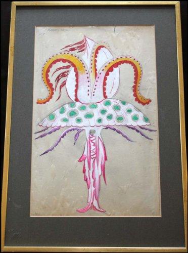 Ballet Russe Costume ([Ballets Russes] Goncharova, Natalia Sergeevna. (1881-1962): Costume Design for a Sea-Monster from)