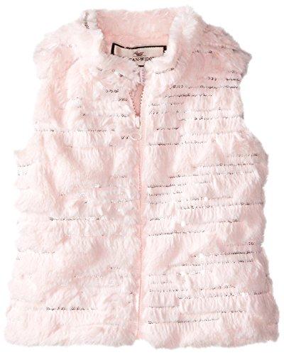 Widgeon Little Girls' Sequin Sparkle Faux Fur Vest, Sequi...