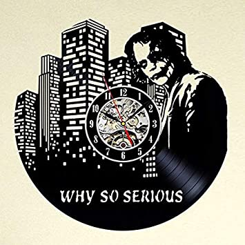 Joker Why So Serious Vinyl Wall Clock-Unique Home Decor That Will Suit to Any Interior – Handmade Gift for Birthday Anniversary or Any Other Occasion Gift for Him Gift for Her