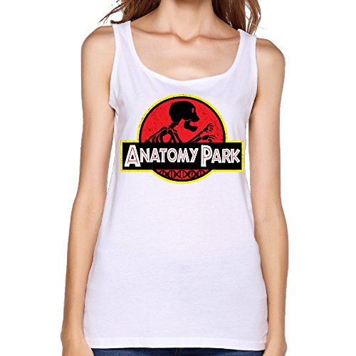 Women's Animated Television Series Anatomy Park Rick And Morty Logo Tank Top-White