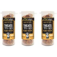 ETTA SAYS! Treats to Go Travel and Training Peanut Butter Treats for Dogs – Pack of 3 – Made in The USA, 100% Natural