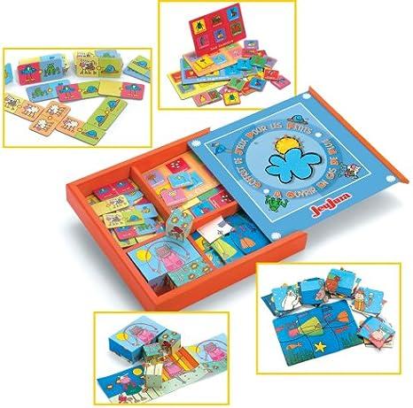 JeuJura 8524 - Cofre de Juegos de Mesa para niños [Importado de Francia]: Amazon.es: Juguetes y juegos
