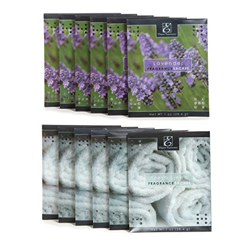 Drawer Sachet (Hosley Set of 12 of Lavender, Linen scented Sachet (Assorted pack , 6 of each). Sachets for drawers or Closets. Ideal Gift for Home, Wedding Favors, Parties, Special Events, Spa and Aromatherapy P9)