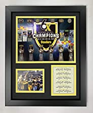 """Pittsburgh Steelers Super Bowl Championships Collectible   Framed Photo Collage Wall Art Decor - 12""""x15&q"""