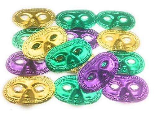 Oojami Metallic Half-Masks (2 (Mardi Gras Mask For Kids)