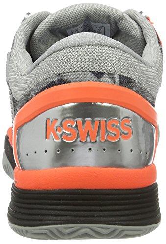 K-swiss Uomini Prestazioni A Iper Scarpe Da Tennis 2.0 Hb Grigio (grattacielo / Nero / Neon Fiammata)