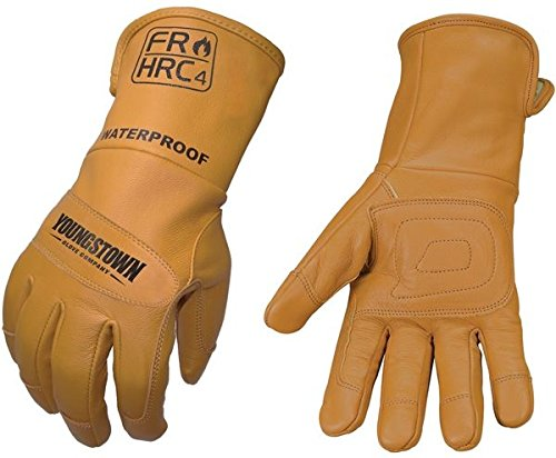(Youngstown Glove 11-3285-60-L Flame Resistant Waterproof Leather Utility Lined with Kevlar Gloves, Large)