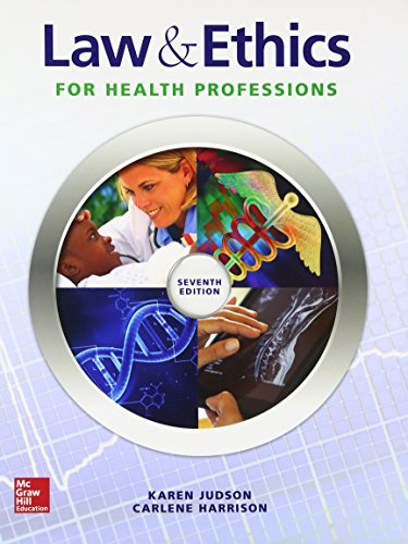 Law & Ethics For Health Professions (P.S. Health Occupations)