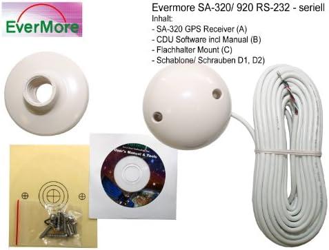 RS-422: Marino 12 canales de receptor SA 320 de satélite GPS de Evermore con RS-422 Interface para instalaciones 9 – 36 V. Estándar NMEA con datos abiertos Kab Elf ür una leitungsgebundene