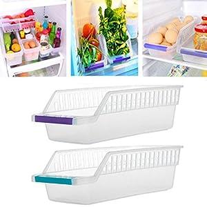 Amazoncom WHOSEE 2 Pack Plastic Fruits Refrigerator Storage Tray