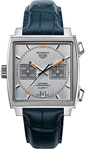 TAG-Heuer-Monaco-Mens-Watch-on-Dark-Blue-Leather-Strap-CAW211CFC6183