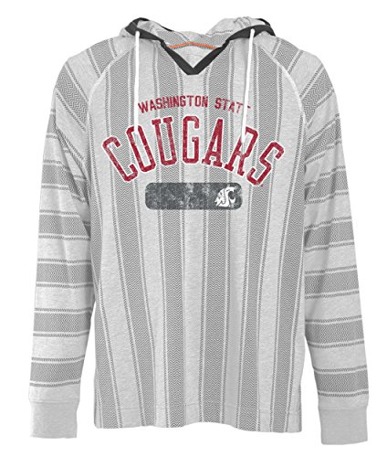 Camp David NCAA Washington State Cougars Men's Long Sleeved Pullover Hoodie, XX-Large, Charcoal Oxford