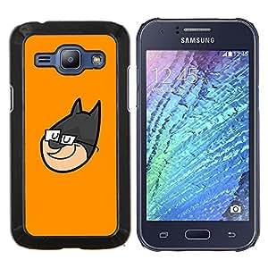 EJOOY---Cubierta de la caja de protección para la piel dura ** Samsung Galaxy J1 J100 ** --Superhero Cara de dibujos animados