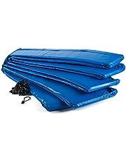 Ampel 24 trampoline randafdekking, passend voor trampoline Ø 366 cm, scheurbestendige veerafdekking en blauwe UV-bestendige beschermrand