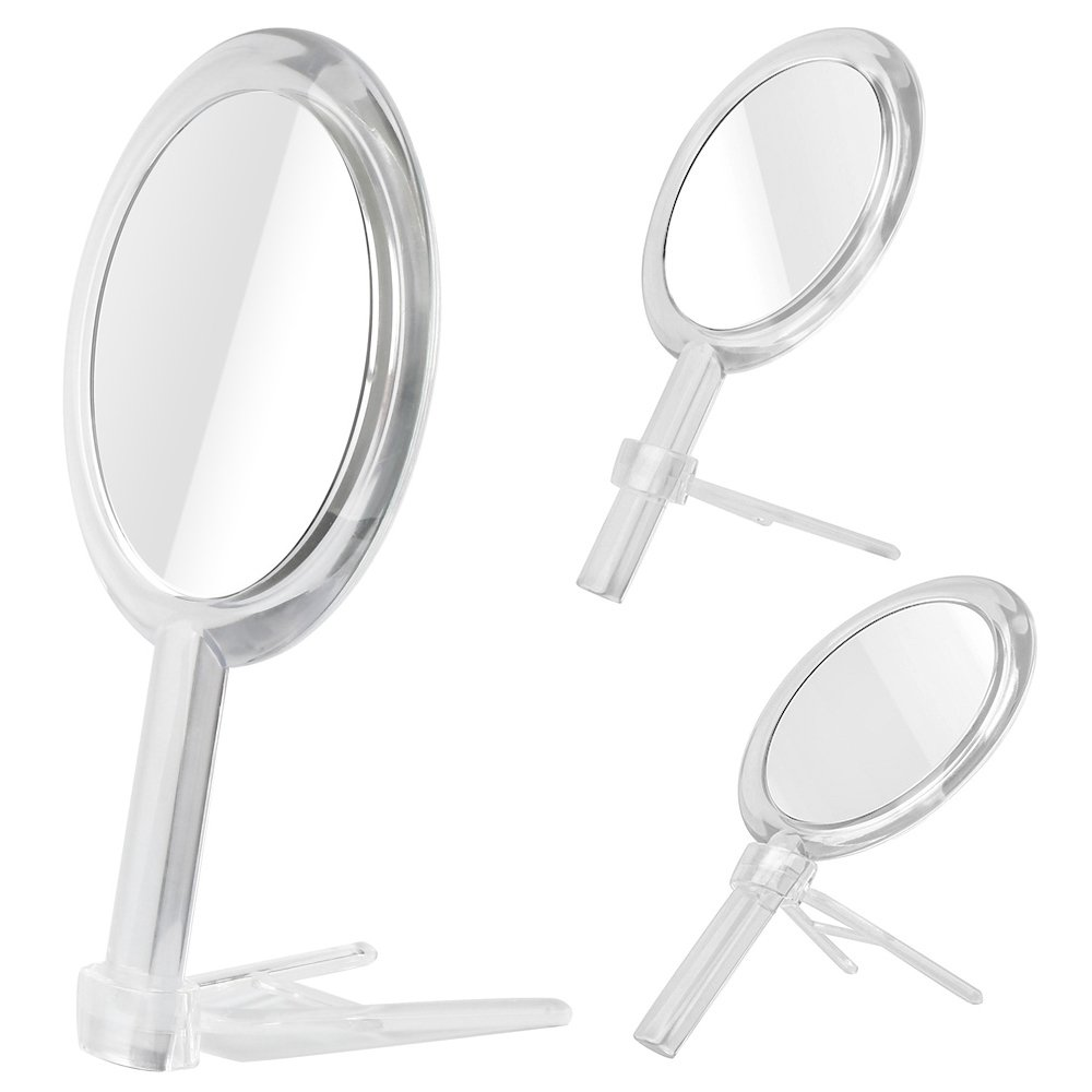 Amazon com   Gotofine Double Sided 1x   7x Magnification Hand Held Makeup  Mirror with Stand  clear  7x    Beauty. Amazon com   Gotofine Double Sided 1x   7x Magnification Hand Held
