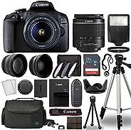 Canon EOS 2000D / Rebel T7 Digital SLR Camera Body w/Canon EF-S 18-55mm f/3.5-5.6 Lens Multi 3 Lens DSLR Kit w