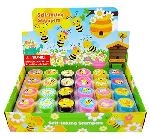 TINYMILLS 24 Pcs Bee Stampers for Kids, Bumble