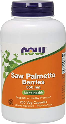 NOW Supplements, Saw Palmetto Berries Serenoa repens 550 mg, Men s Health*, 250 Veg Capsules
