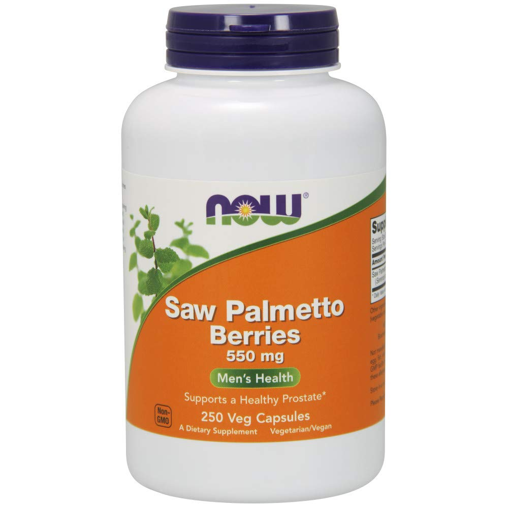 NOW Supplements, Saw Palmetto Berries 550 mg, 250 Veg Capsules