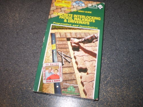 Concrete Interlocking Patios, Walkways & Driveways [VHS]