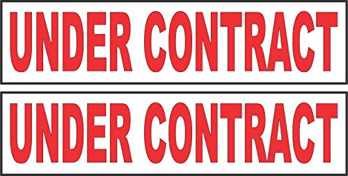 2 - 6x24 UNDER CONTRACT Real Estate Rider Sign Red