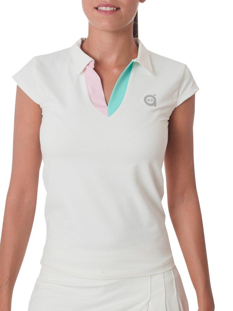 a40grados Sport & Style Damen Polo Halbarm für Füllfederhalter Weiß M weiß Pluma