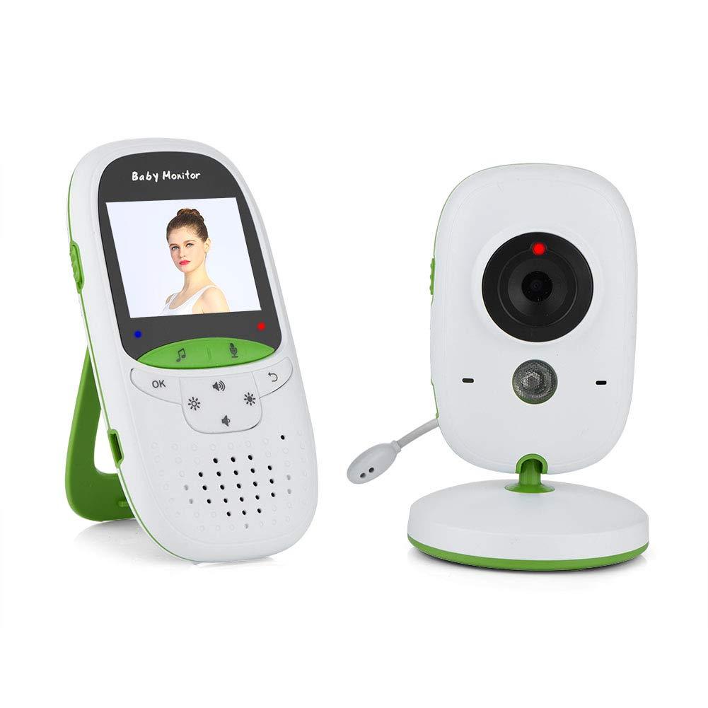 VBESTLIFE Wireless-Audio-Video-Babyphone mit Kamera, 2-Zoll-LCD-Bildschirm-Dummy-Innenkamera, IR-Nachtsicht, Temperaturü berwachung, Zwei-Wege-Gesprä ch, Sicherheitsü berwachung(Weiß )