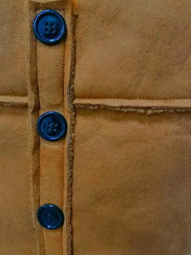 Lined Invierno La Parkas Camel Cuello Cruzado Espesar Externa Fleece Caliente Casual Zilcremo con Capa Mujer Bajar xUgPwv