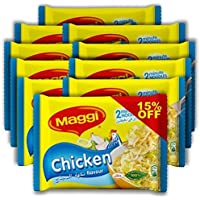 Maggi 2 Minutes Noodles Chicken, Pack of 10 (10 x 77g)