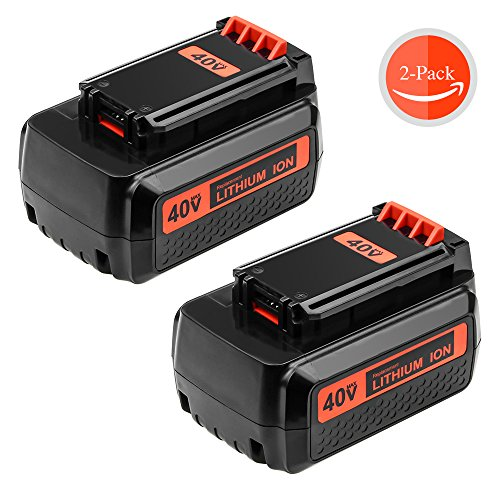 Replace Black and Decker 40V Battery for LBX2040 LBX36 LBXR36 LBXR2036 Lithium Ion Battery 2-Pack by GERIT BATT