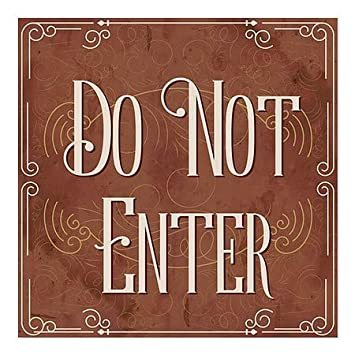 Do Not Enter 5-Pack Victorian Card Window Cling CGSignLab 24x24