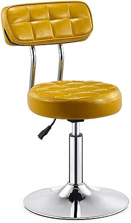 JACKJO Taburete bajo Ajustable en Altura 40-55 cm para Barra de Cocina Barra de sal/ón de Cocina con Escritorio de computadora y Silla con Base de Cromo
