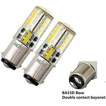 BA15D LED Bulb AC/DC 12V, Double Bayonet Base 5W Daylight White 6000K, 35W Halogen Equivalent, 1076 1130 1176 1142 LED Replacement for Interior RV, ...