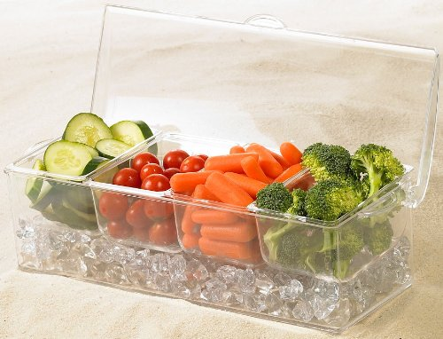 Tropix Compartment Acrylic Chiller Appetizer