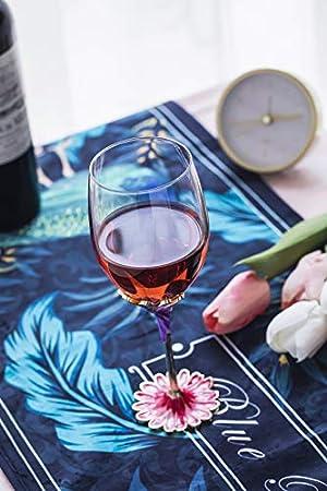 Evecase -Esmalte Hecha a Mano Copas de Vino, Motivo 3D de Mariposas y Flores,Regalos día de la Madre.Regalos Originales para Mujer/Regalos para Amigas Originales