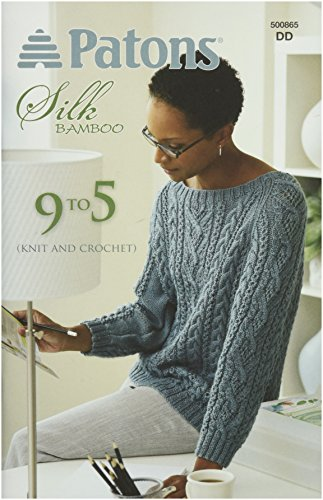 Spinrite Patons 9 to 5 Knitting and Crochet Patterns, Silk -