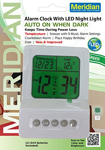 Meridian Led Digital Clock Night Light