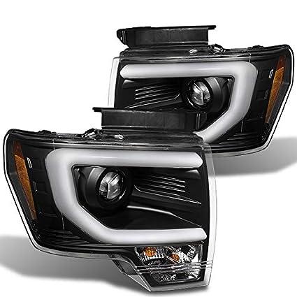 2014 F150 Headlights >> Amazon Com Xtune 2009 2014 F150 Black Cyclop Optic Led Light Tube